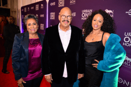 Cathy Hughes, Chairperson of Urban One Inc., Tom Joyner, and Elle Varner at the Urban One HonorsPhoto Credit: Antoine DeBrill
