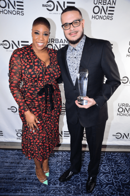Honoree Shaun King with political commentator Symone Sanders at the Urban One HonorsPhoto Credit: Antoine DeBrill
