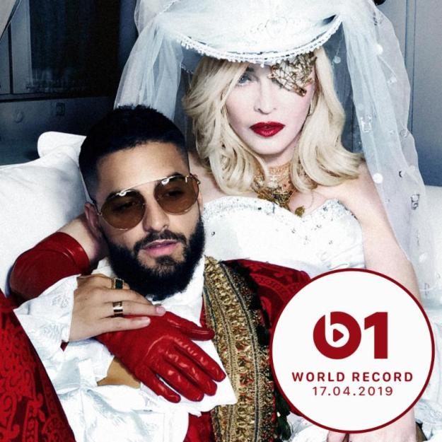 Madonna's 'Medellín feat. Maluma' Debuts as Zane Lowe's World Record on Apple Music's Beats 1
