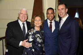 Dennis Basso, Marion Waxman, Don Lemon, and Tim Malone
