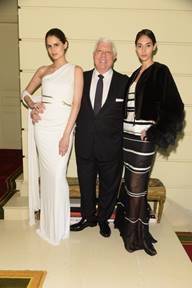 Dennis Basso with models