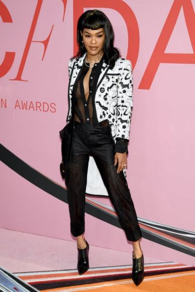 Teyana Taylor Stuns Dressed in Thom Browne at the 2019 CFDA Awards-1