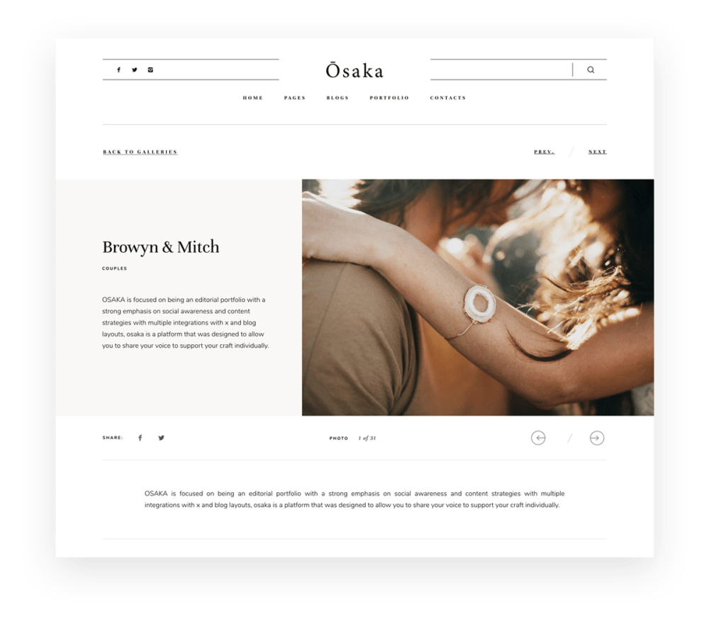 Osaka - Best Website Theme for Storytellers & Bloggers, India Earl photography, Flothemes websites for photographers, Gallery-A