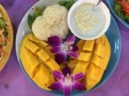 Mango sticky rice at Mama Jin