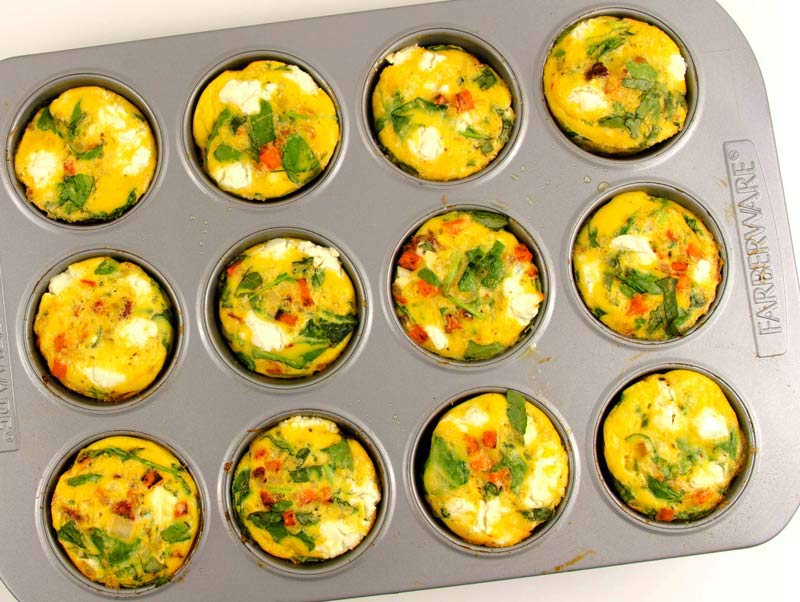 Muffin pan frittata_in pan