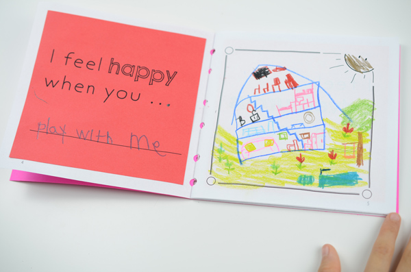 "Mother's Day Book, ""I feel happy when..."" page example"