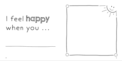 Example page - You make me feel happy when you...