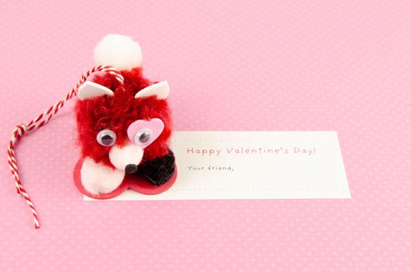 Pompom Pet Valentine Fox
