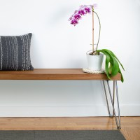 WOOD BENCH WITH HAIRPIN LEGS | SIMPLE DIY