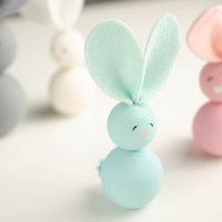 WOOD BEAD EASTER BUNNIES | EASY CRAFT