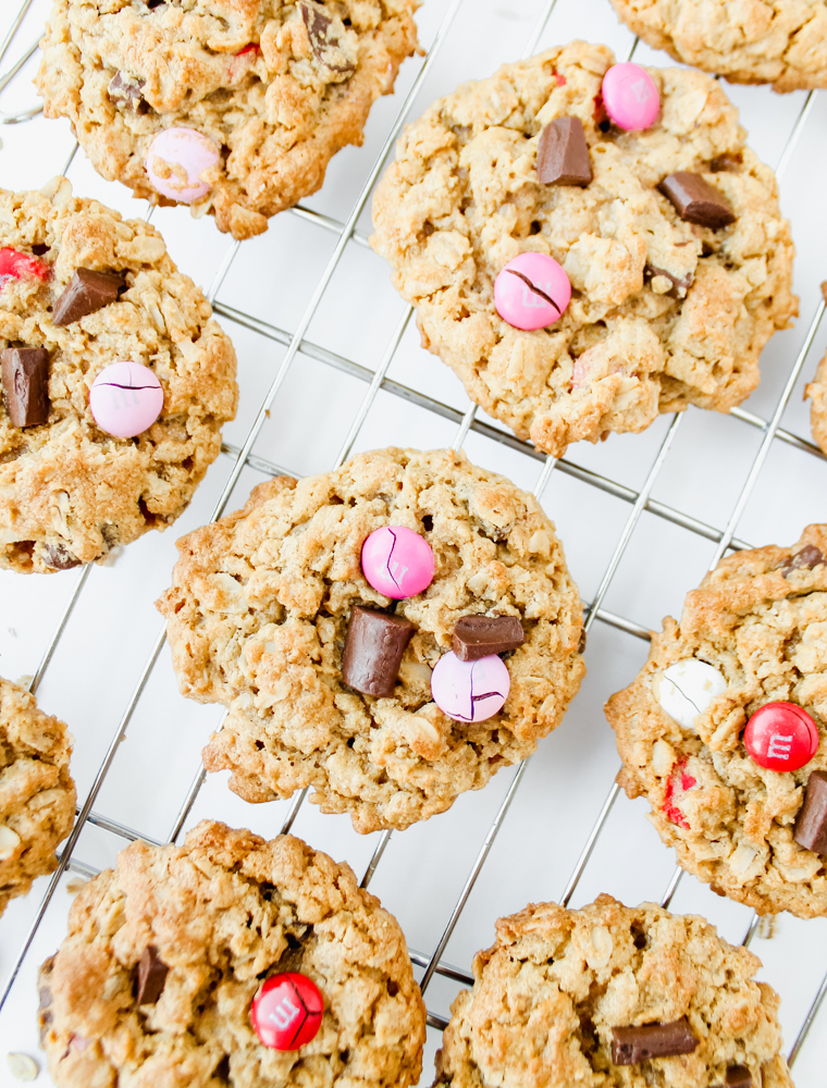 Peanut Butter Oatmeal Cookies with Chocolate Chunks and M&Ms Flourless Gluten-Free