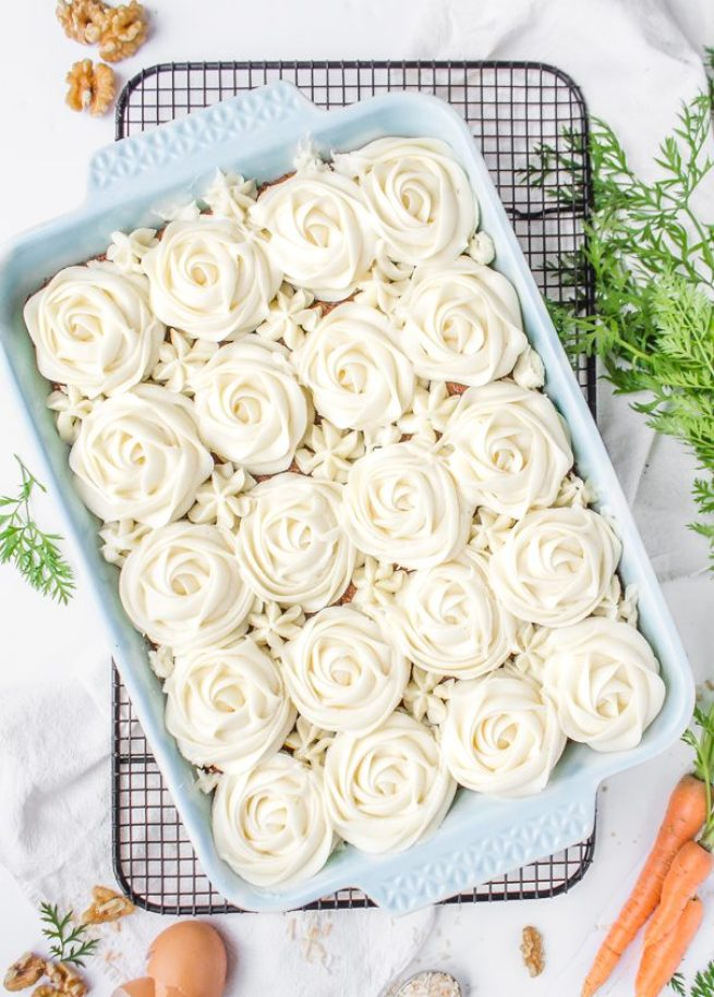 Carrot Cake With Cream Cheese Frosting toasted coconut recipe