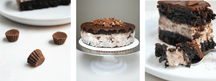 Moose Tracks Ice Cream Cake - Flour Covered Apron