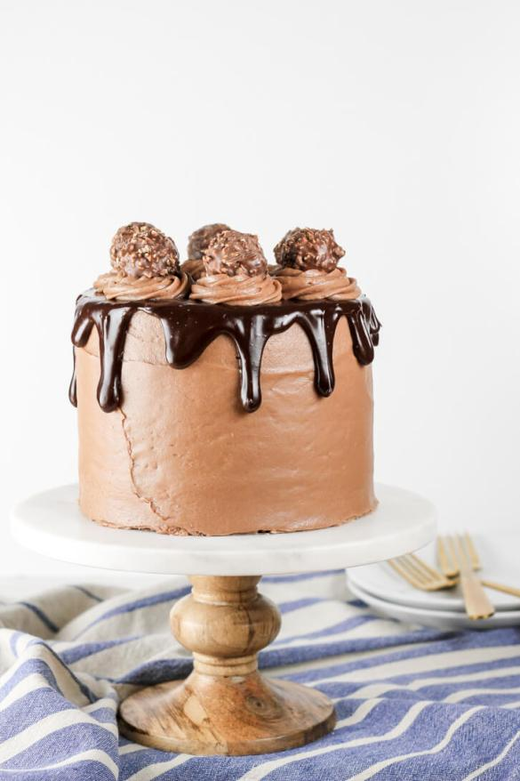 Nutella Chocolate Cake with Nutella Cream Cheese Frosting - Flour Covered Apron
