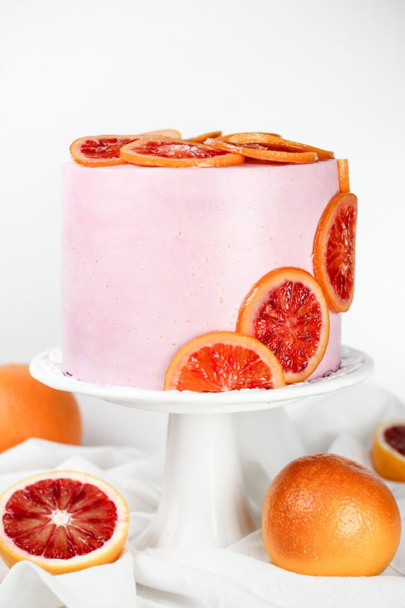 Blood Orange Poppy Seed Layer Cake - Flour Covered Apron