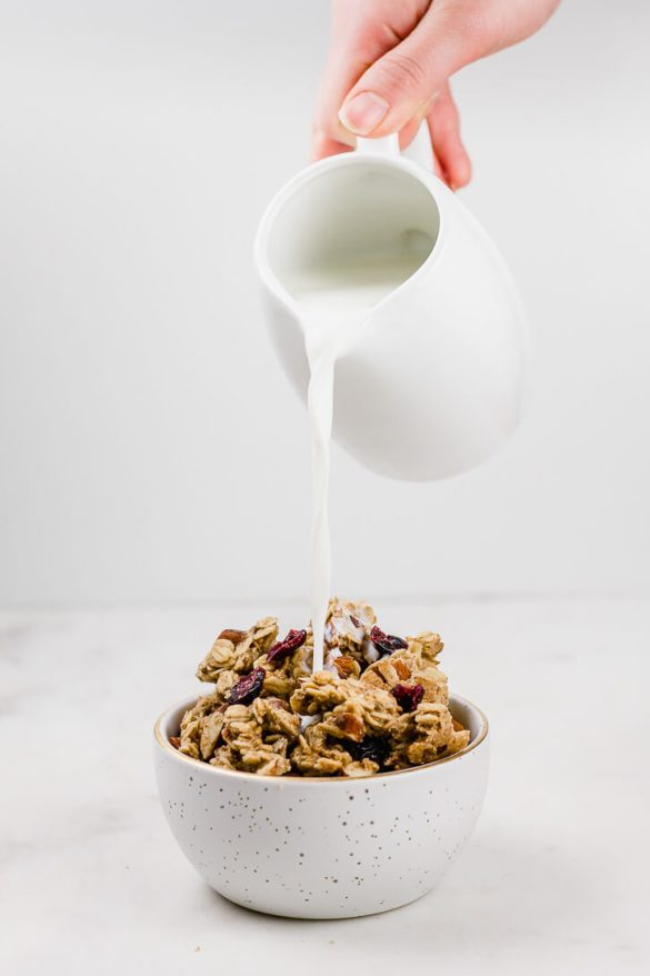 Large-Cluster Cranberry Almond Granola - Flour Covered Apron