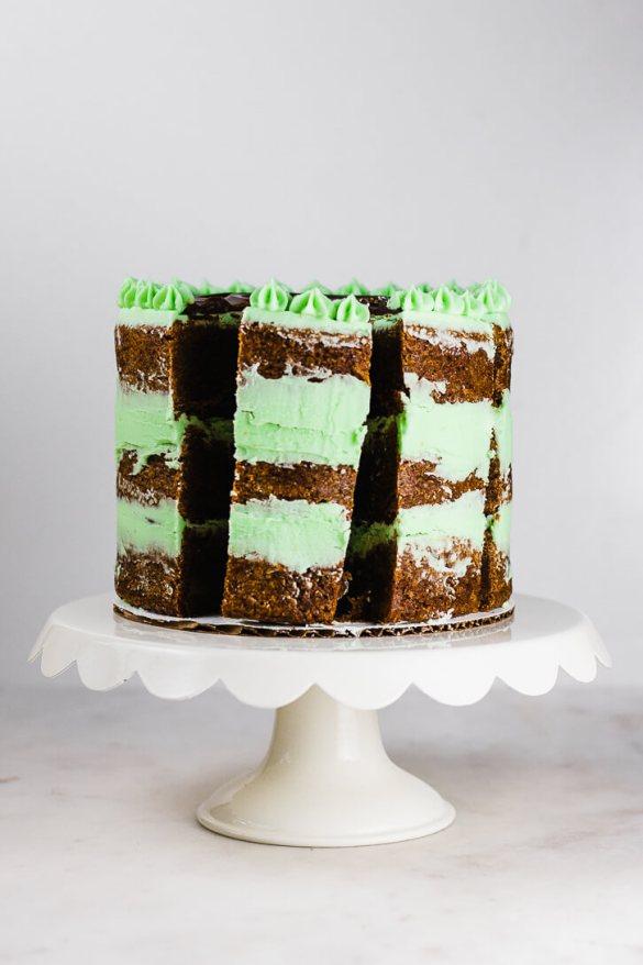 Mom's Chocolate Mint Brownie Cake Recipe - Flour Covered Apron