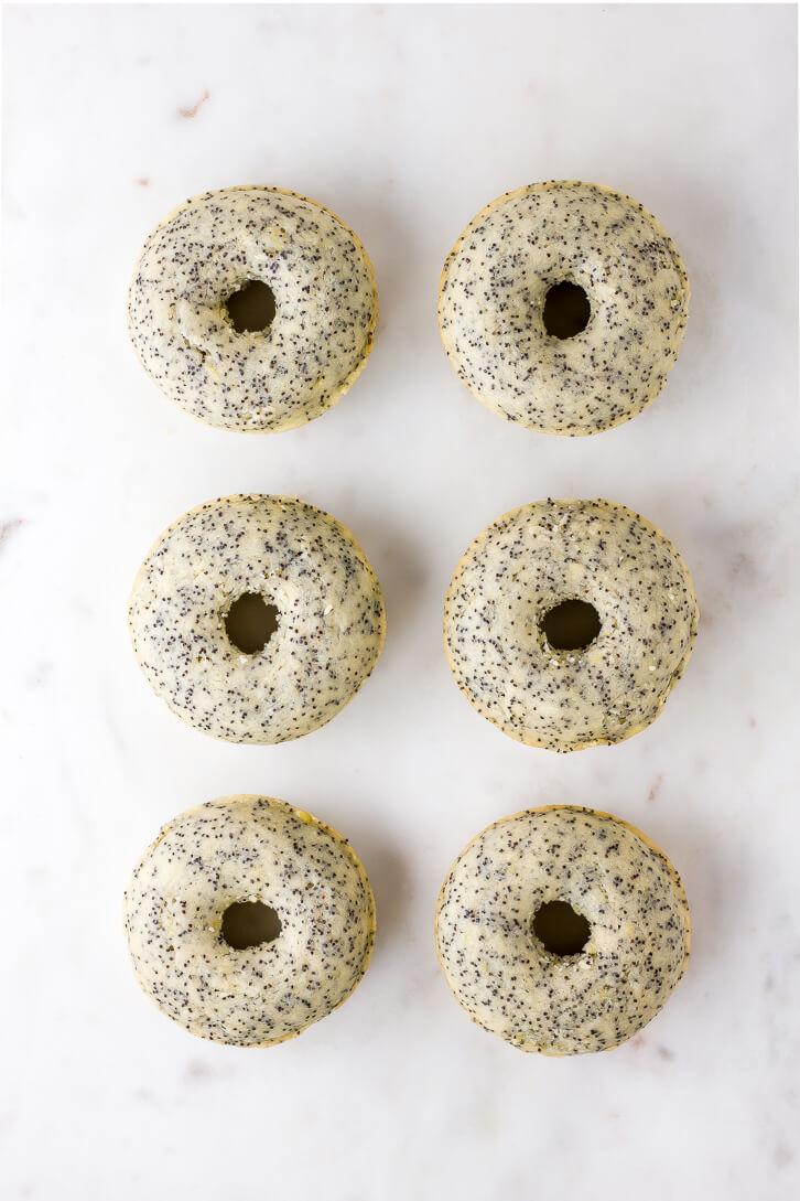 Vegan Baked Lemon Poppy Seed Donuts - Flour Covered Apron
