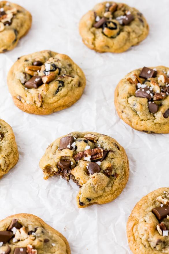 Cherry Chocolate Chip Pecan Cookies - Flour Covered Apron