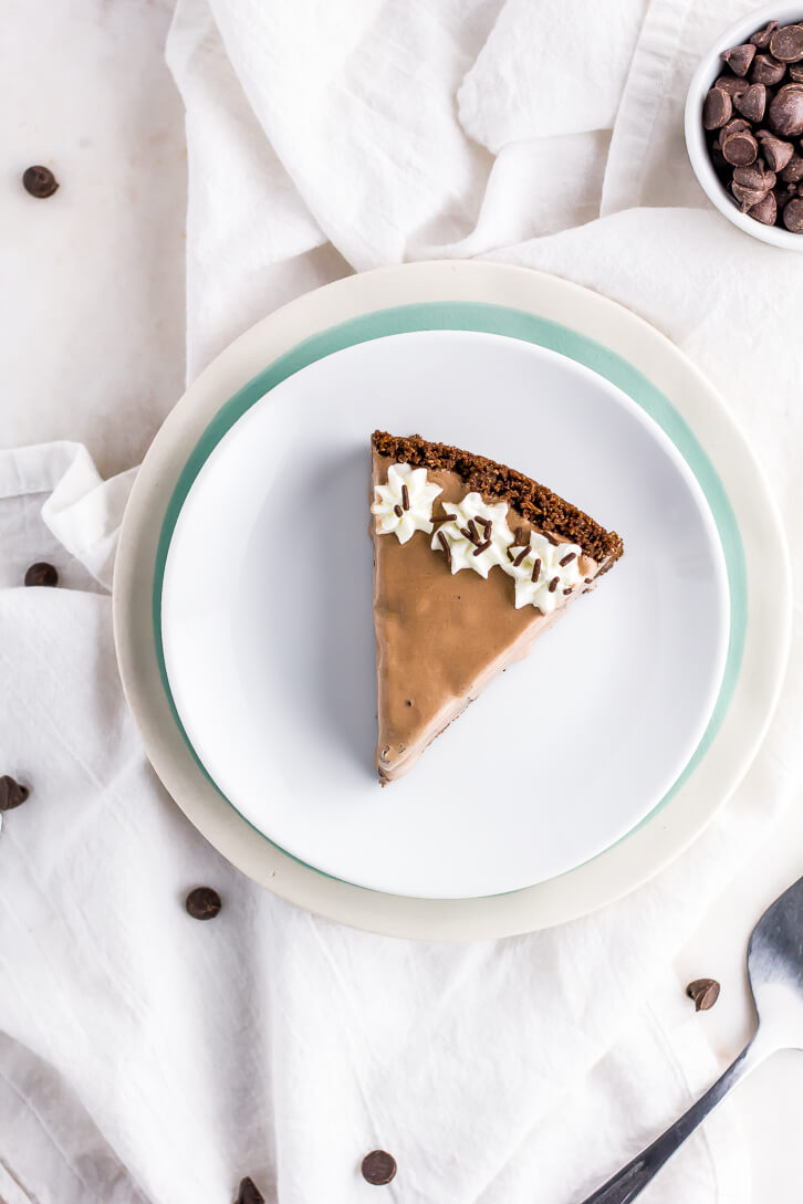 Chocolate Chocolate Ice Cream Pie | Flour Covered Apron