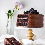 Blackberry Chocolate Cake with Blackberry Mascarpone Filling | Flour Covered Apron