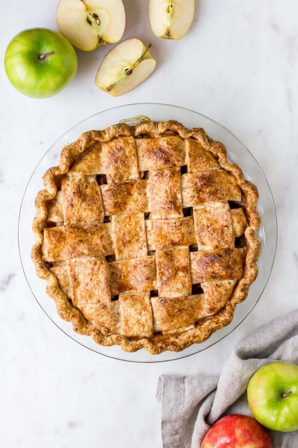 Bacon Apple Pie with a Cheddar Crust | Flour Covered Apron