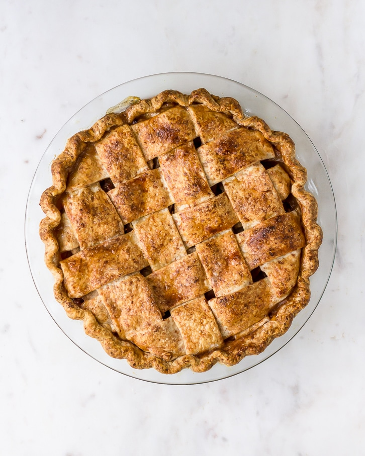 Bacon Apple Lattice-Top Pie with a Cheddar Crust | Flour Covered Apron