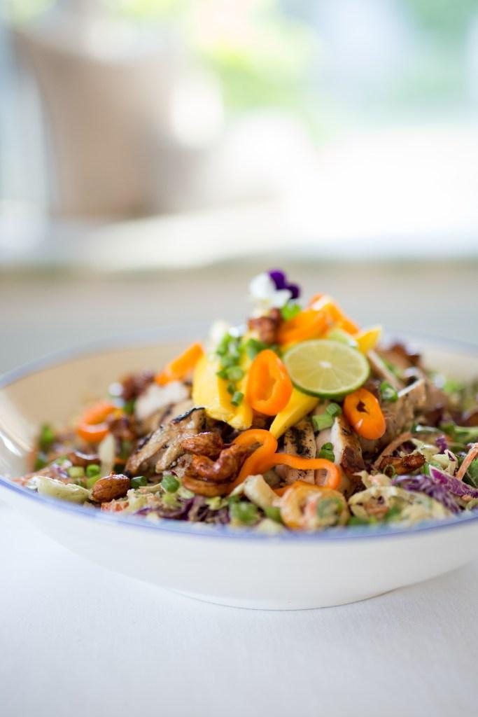 Gluten Free, Paleo Thai Chicken Chop Salad by Colorful Eats