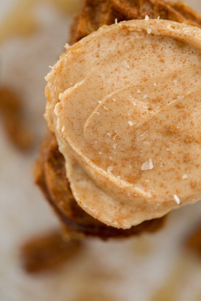 Gluten Free, Paleo Pumpkin Waffles with Salted Maple Butter