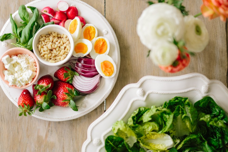 Spring Strawberry Cobb Salad (Gluten-Free) by Colorful Eats