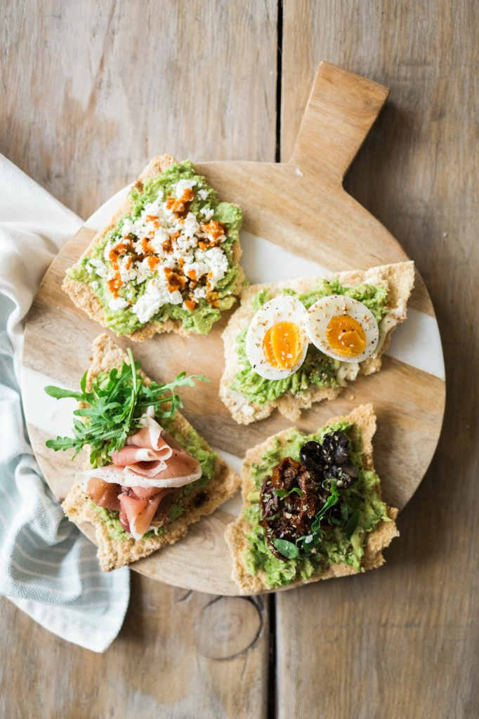 Grain-Free Avocado Toasts 4 Ways by Colorful Eats