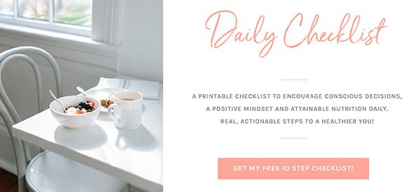 daily wellness checklist flourishflourish