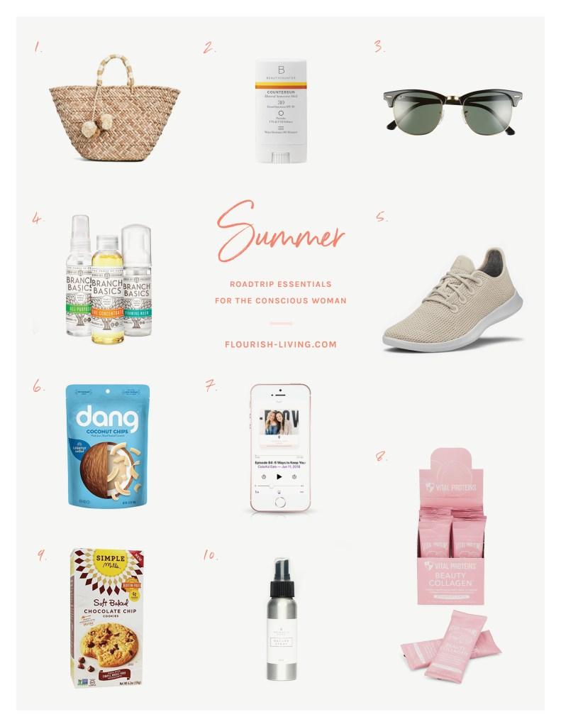 Healthy Summer Road Trip Essentials | Flourish Blog