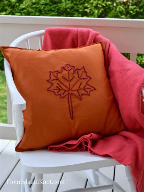 easy embroidered pillow ikea hack