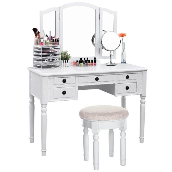 Dressing Vanity Makeup Table with Mirror