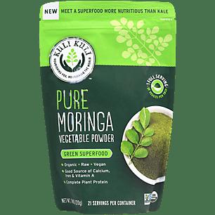 Organic Pure Moringa Vegetable Powder - Calcium, Iron & Vitamin A (21 Servings)