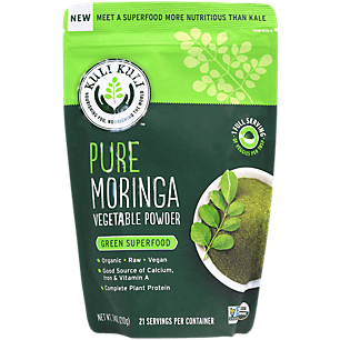 Organic Pure Moringa Vegetable Powder - Calcium, Iron & Vitamin A (21 Servings)