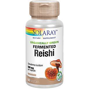 Organically Grown Fermented Reishi Mushroom - 500 MG (60 Vegetable Capsules)