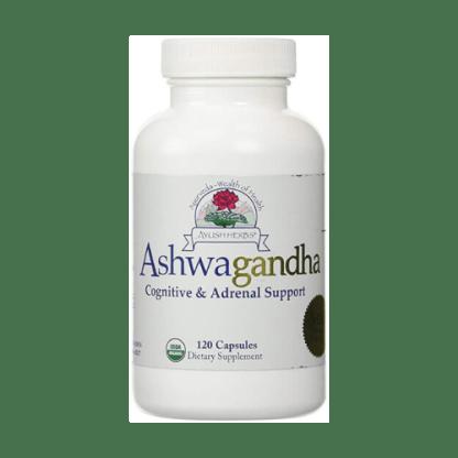 ayush herbs organic ashwagandha bottle