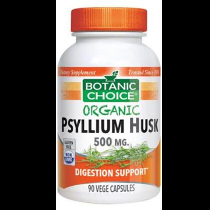 botanic choice organic psyllium husk container