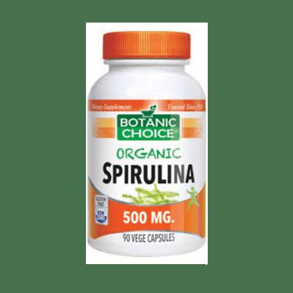 botanic choice organic spirulina capsules bottle
