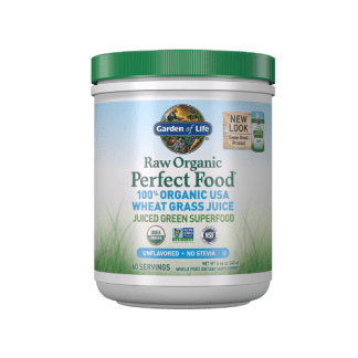 garden of life raw organic wheat grass powder cannister