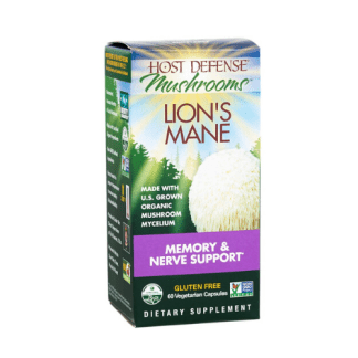 host defense lions mane capsules box