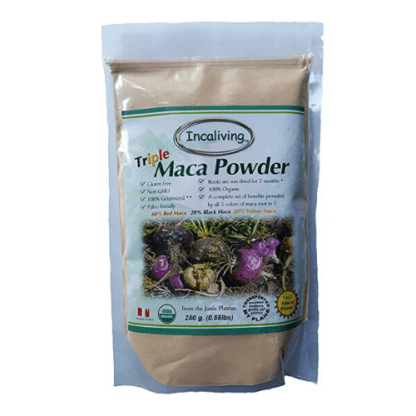 incaliving triple maca powder pouch