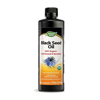natures way organic black seed oil bottle