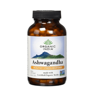 organic india ashwagandha bottle