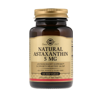 solgar natural astaxanthin 5mg bottle