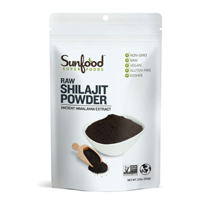 sunfood raw shilajit powder package
