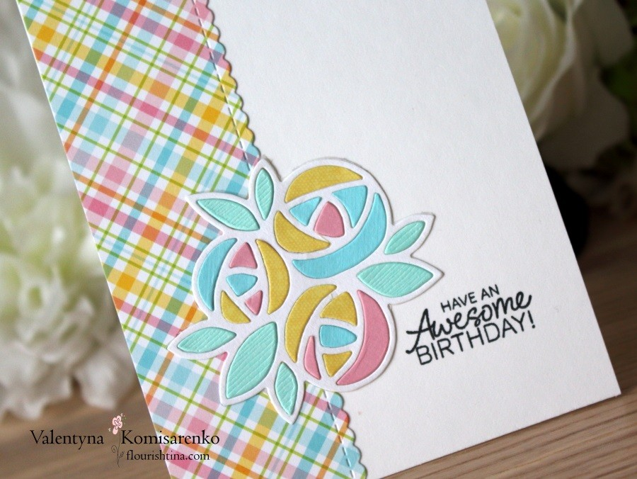 Along the Edge Flowery Card, by Flourishtina