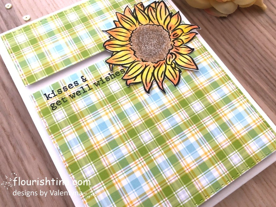Get Well Sunflower Card #flourishtina